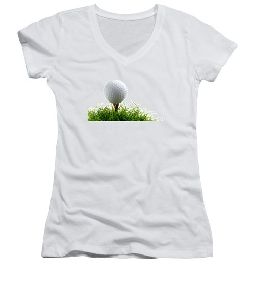 Golfball Women's V-Neck T-Shirt