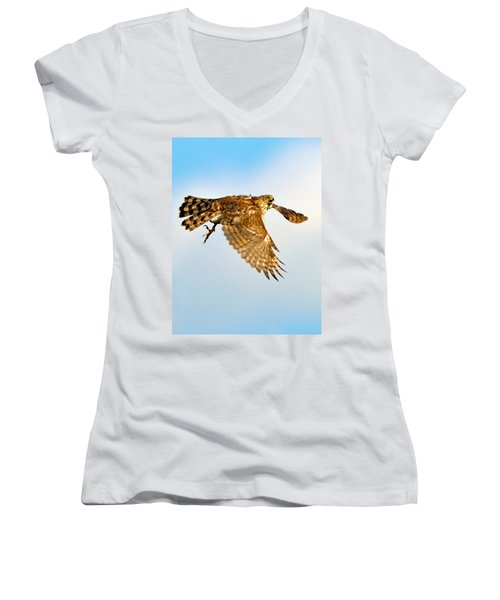 Good Hawk Hunting Women's V-Neck