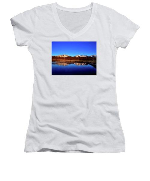 Good Morning Colorado Women's V-Neck T-Shirt (Junior Cut) by L O C