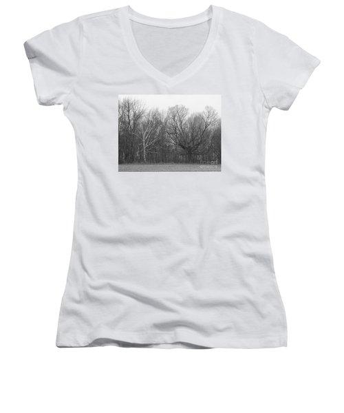 Good Vs Evil Trees Women's V-Neck T-Shirt