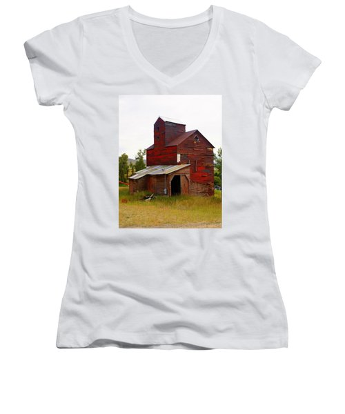 Grain Elevator Women's V-Neck T-Shirt