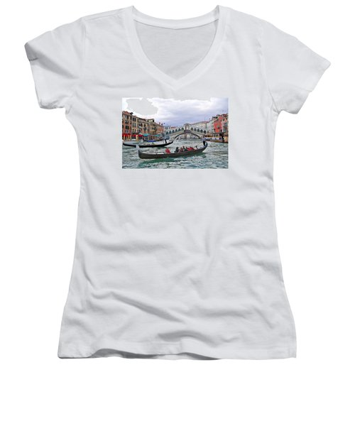 Grand Canal Scene  Women's V-Neck (Athletic Fit)