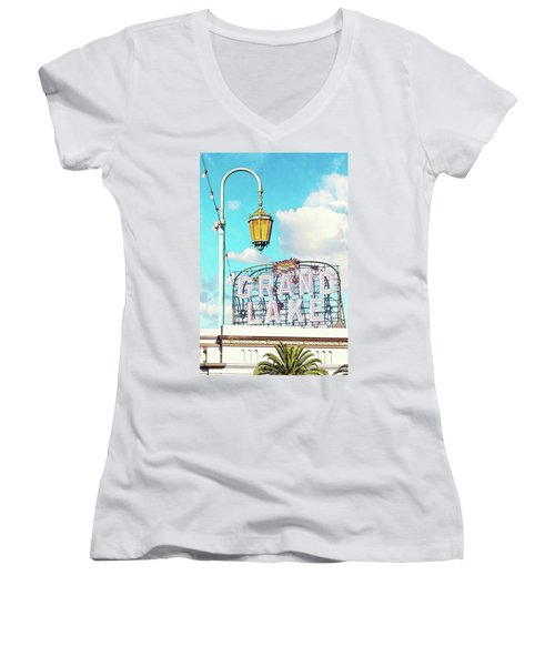 Grand Lake Merritt - Oakland, California Women's V-Neck (Athletic Fit)