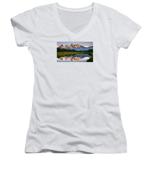 Grand Teton Awakening Women's V-Neck (Athletic Fit)