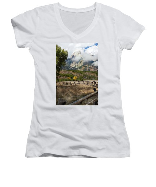 Grand Teton National Park, Wyoming Women's V-Neck (Athletic Fit)