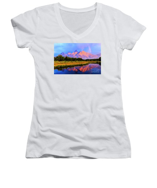 Grand Teton Sunrise Women's V-Neck