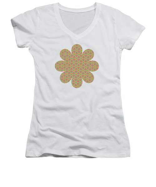 Grandma's Flowers Women's V-Neck