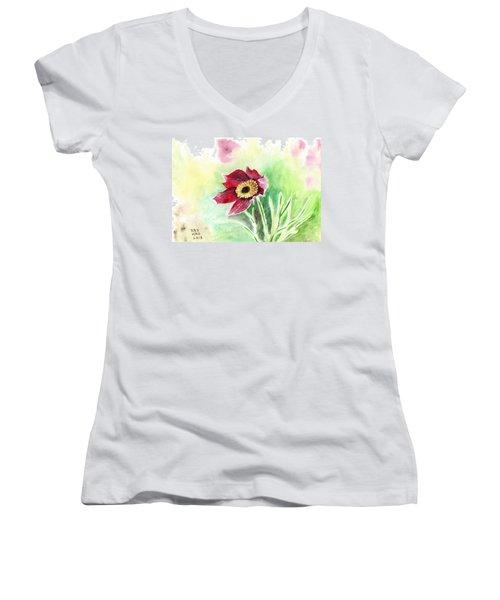 Granny Flower 2 Women's V-Neck