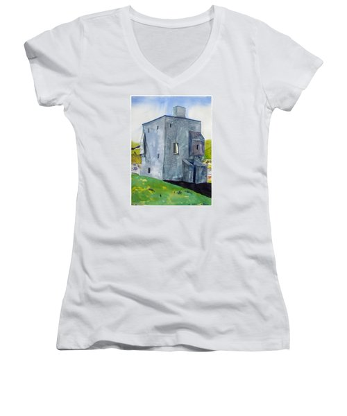 Granuaile's Castle Behind The Hill Women's V-Neck (Athletic Fit)