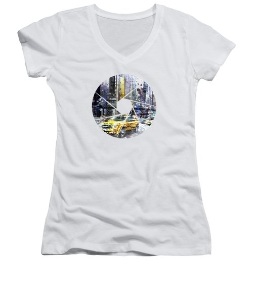 Graphic Art New York City Women's V-Neck (Athletic Fit)
