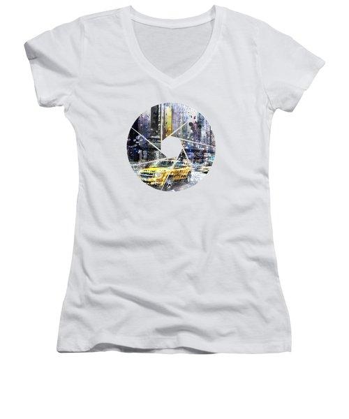 Graphic Art New York City Women's V-Neck T-Shirt