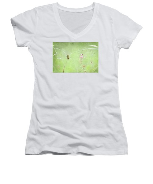Grasses And Blooms Women's V-Neck T-Shirt