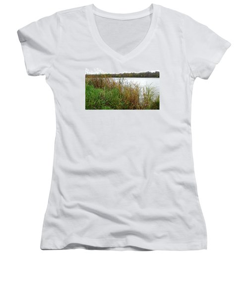 Grassy Bank Women's V-Neck
