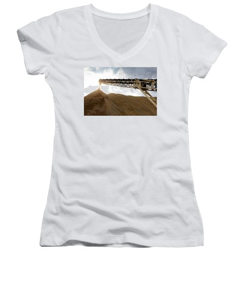 Gravel Mountain 2 Women's V-Neck (Athletic Fit)