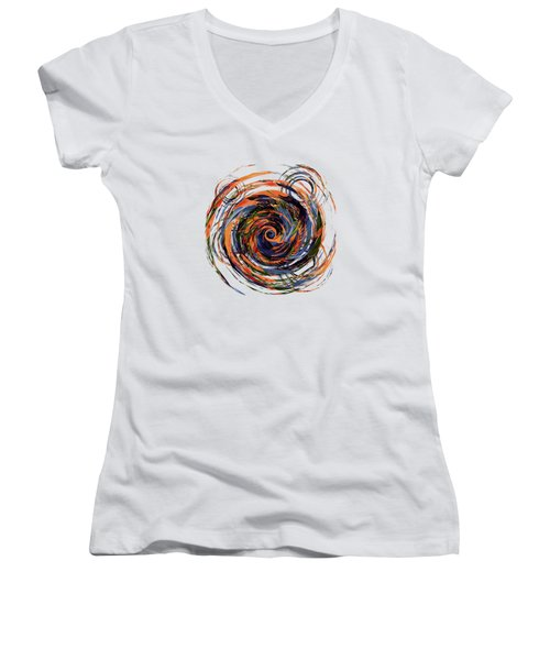 Gravity In Color Women's V-Neck T-Shirt (Junior Cut) by Deborah Smith