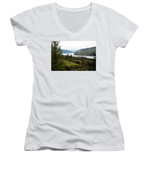 Gray Skies Around The Bend Women's V-Neck