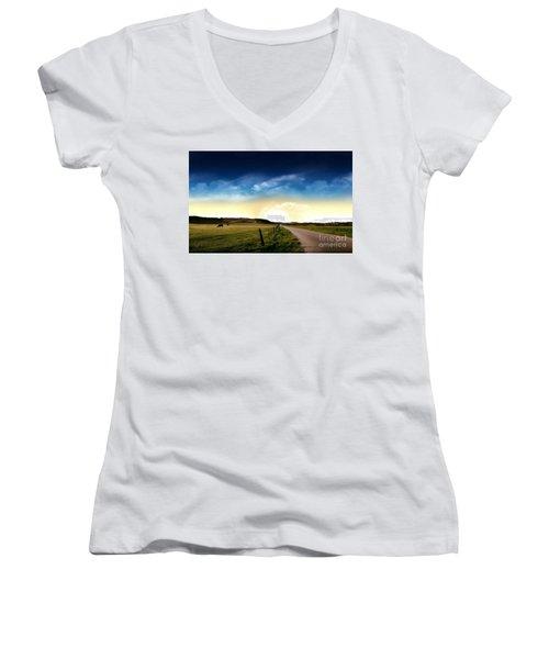 Grazing Time Women's V-Neck T-Shirt