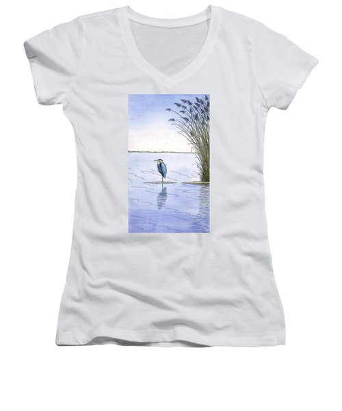 Great Blue Heron Women's V-Neck