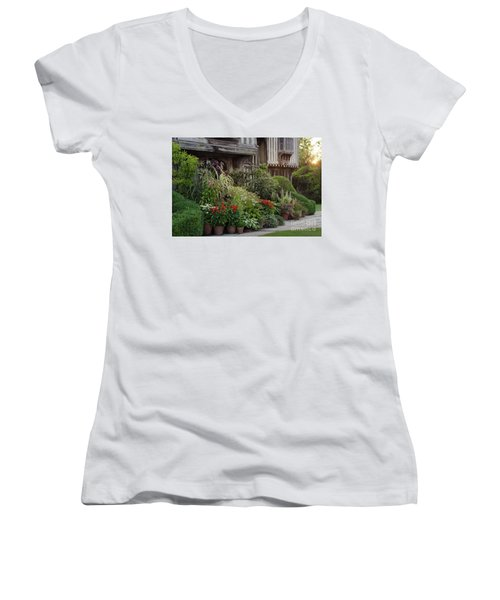 Great Dixter House And Gardens At Sunset 2 Women's V-Neck