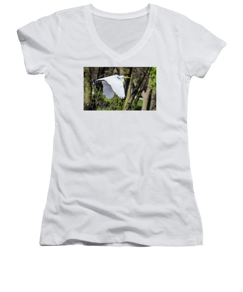 Great Egret Women's V-Neck