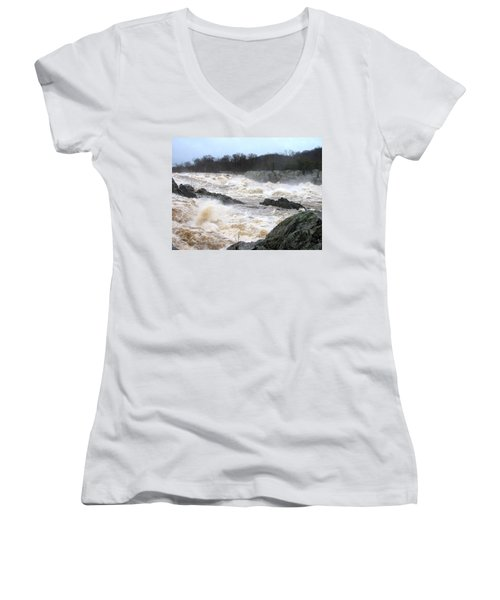Great Falls Torrent Women's V-Neck (Athletic Fit)