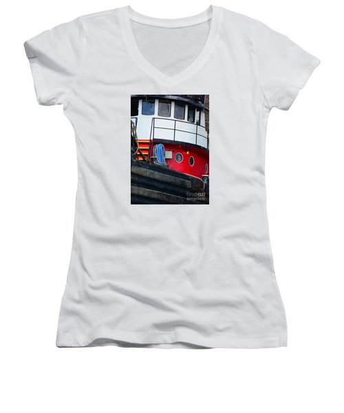 Great Lakes Tugboat Women's V-Neck