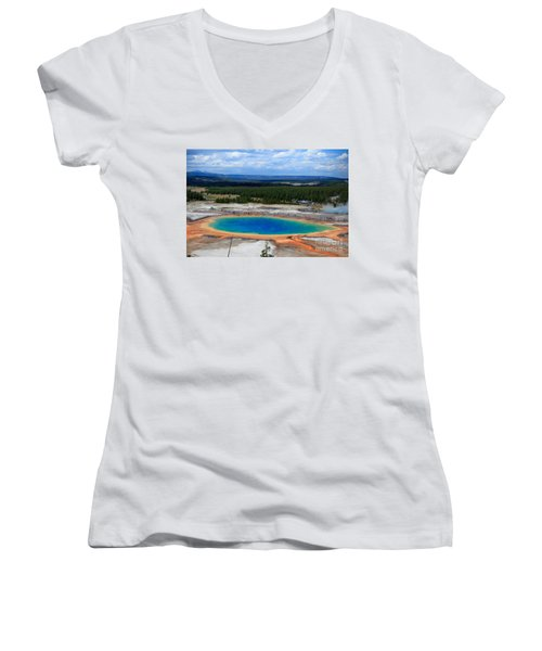 Great Prismatic Spring   Women's V-Neck (Athletic Fit)