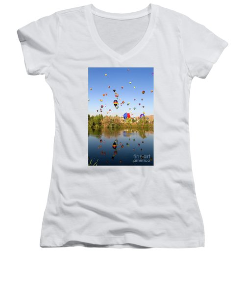 Great Reno Balloon Races Women's V-Neck T-Shirt