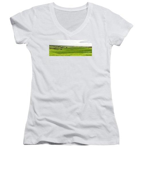 Green Fields. Women's V-Neck