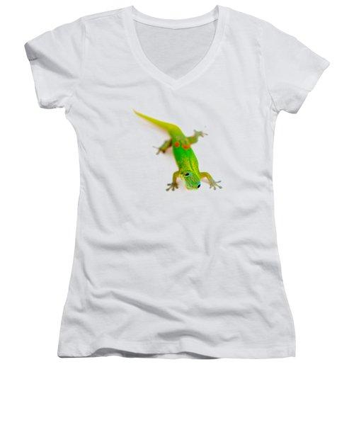 Green Gecko Women's V-Neck