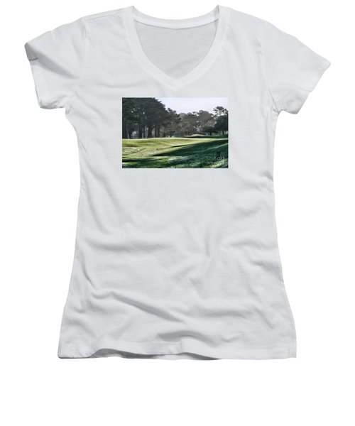 Greens Golf Harding Park San Francisco  Women's V-Neck