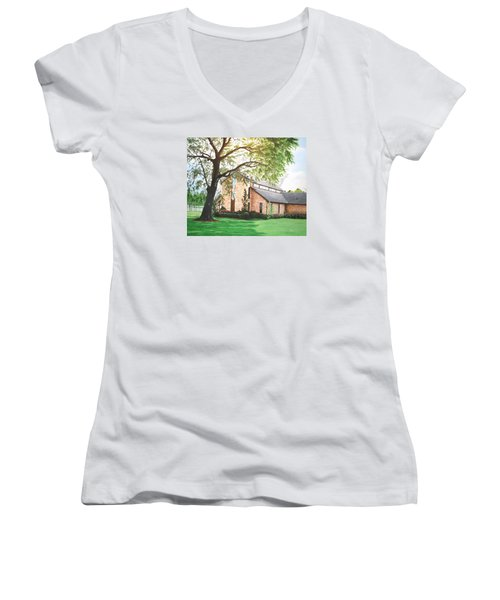 Greenwood Women's V-Neck T-Shirt (Junior Cut) by Mike Ivey