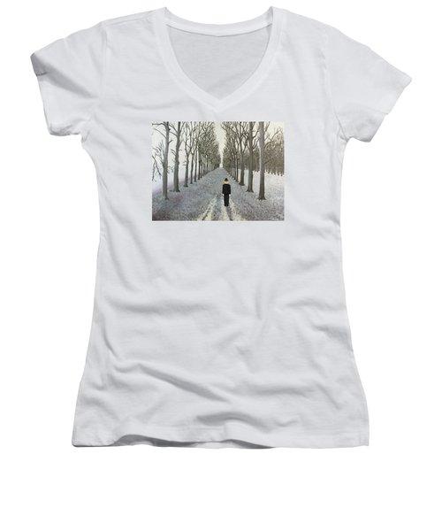 Grey Day Women's V-Neck T-Shirt