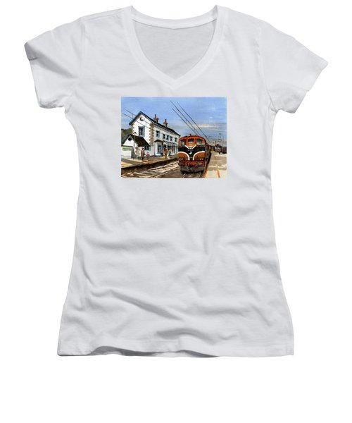 Greystones Railway Station Wicklow Women's V-Neck T-Shirt