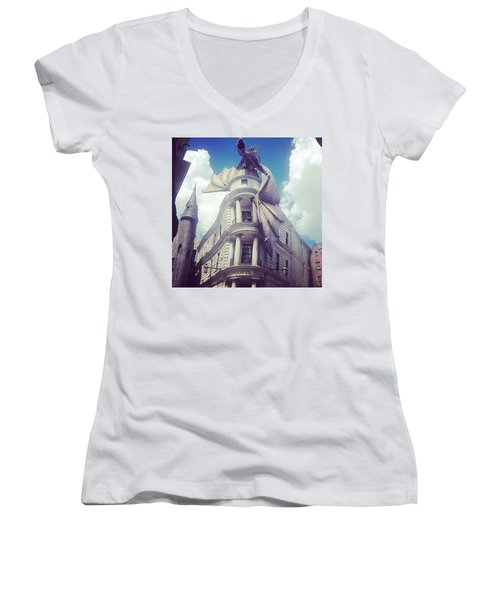 Gringotts  Women's V-Neck T-Shirt