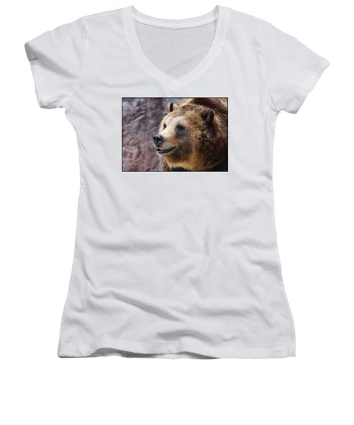 Grizzly Smile Women's V-Neck (Athletic Fit)