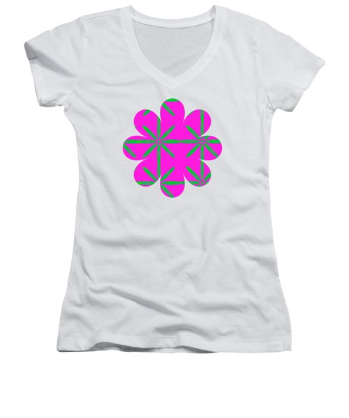 Groovy Flowers Women's V-Neck