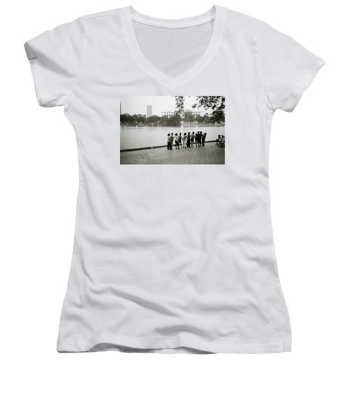 Group Massage Women's V-Neck