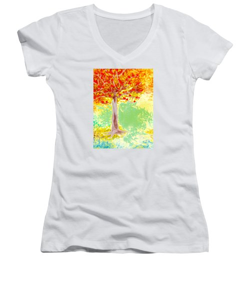 Growing Love Women's V-Neck T-Shirt