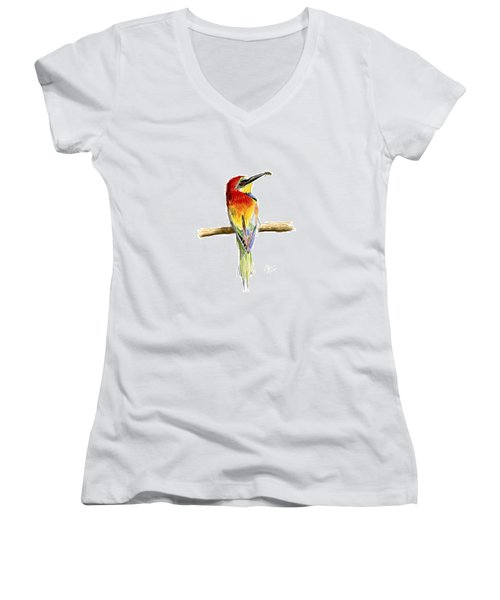 Gruccione  - Bee Eater - Merops Apiaster Women's V-Neck (Athletic Fit)