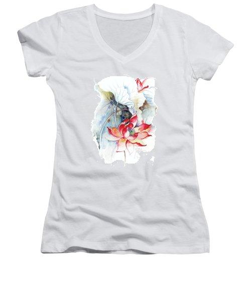Guarding The Secret Passage Women's V-Neck T-Shirt (Junior Cut) by Anna Ewa Miarczynska