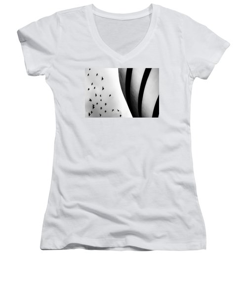 Guggenheim Museum With Pigeons Women's V-Neck