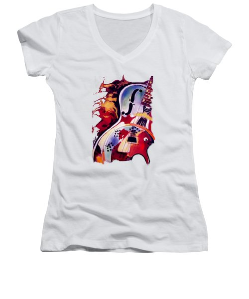 Guitar Flow Women's V-Neck (Athletic Fit)