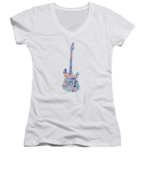 Guitar Legends Women's V-Neck