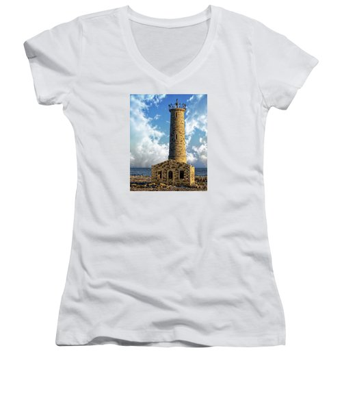Gull Island Lighthouse Women's V-Neck