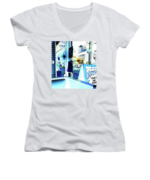 Haight Street San Francisco From 1428 Women's V-Neck (Athletic Fit)