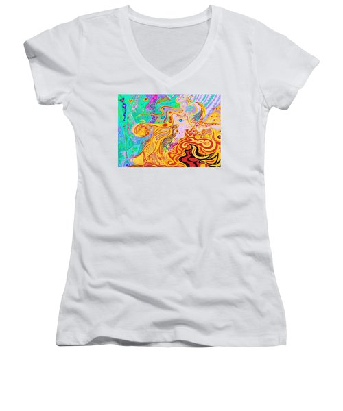 Hair Of The Divine Universe Women's V-Neck