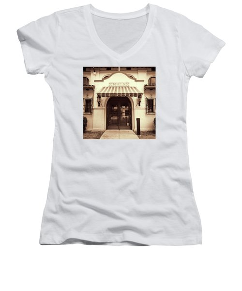 Women's V-Neck T-Shirt (Junior Cut) featuring the photograph Hale by Stephen Stookey