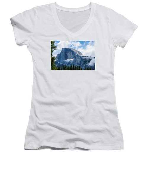 Half Dome In The Clouds Women's V-Neck (Athletic Fit)