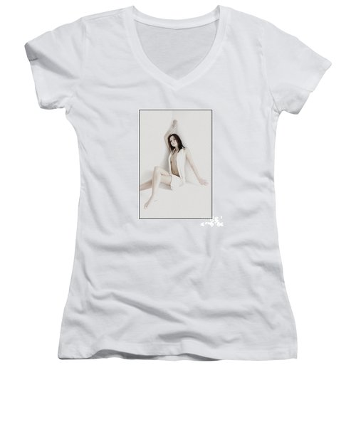 Half Naked Woman Is Studio Women's V-Neck T-Shirt